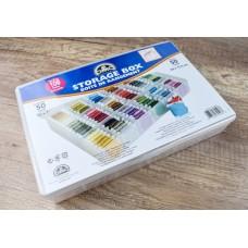 Пластиковая коробка-органайзер для мулине DMC