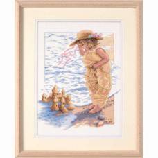 """Набор для вышивания крестом """"Мечта замка из песка//Sandcastle Dreams"""" DIMENSIONS 13730"""