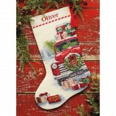 """Набор для вышивания крестом """"Santa's Truck//Грузовик Санты"""" DIMENSIONS 70-08986"""