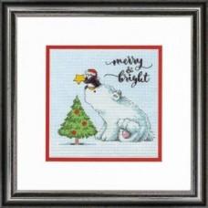 """Набор для вышивания крестом """"Merry & Bright//Веселый и яркий"""" DIMENSIONS 70-08990"""