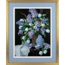 """Набор для вышивания гладью """"Тюльпаны и кружева//Lilacs and Lace"""" DIMENSIONS 01529"""