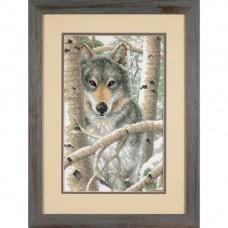 """Набор для вышивания крестом """"Зимний волк//Wintry Wolf"""" DIMENSIONS 03228"""