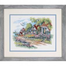 """Набор для вышивания крестом """"Коттеджи на берегу моря//Cottages by the Sea"""" DIMENSIONS 03240"""