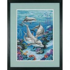 """Набор для вышивания крестом """"Царство дельфинов//The Dolphins' Domain"""" DIMENSIONS 03830"""