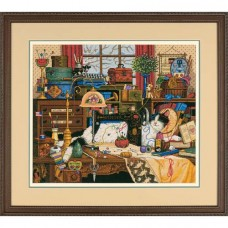 """Набор для вышивания крестом """"Мэгги-рукодельница//Maggie the Messmaker"""" DIMENSIONS 03884"""