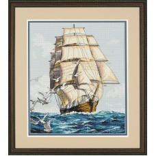 """Набор для вышивания крестом """"Морское путешествие//Clipper Ship Voyage"""" DIMENSIONS 03886"""