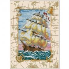 """Набор для вышивания крестом """"Путешествие на море//Voyage at Sea"""" DIMENSIONS 06847"""