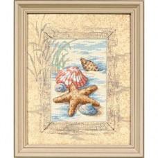 "Набор для вышивания крестом ""Ракушки в песке//Shells in the Sand"" DIMENSIONS 06956"