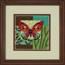 "Набор для вышивания гобеленом ""Бабочка//Butterfly Impression"" DIMENSIONS 07222"