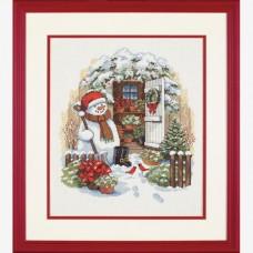 """Набор для вышивания крестом """"Садовый снеговик//Garden Shed Snowman"""" DIMENSIONS 08817"""