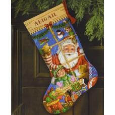 """Набор для вышивания крестом """"Игрушки Санты//Santa's Toys Stocking"""" DIMENSIONS 08818"""