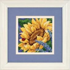 """Набор для вышивания гобеленом """"Подсолнечник и Божья коровка//Sunflower and Ladybug"""" DIMENSIONS 17066"""