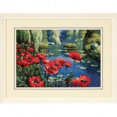 "Набор для вышивания гобеленом ""Маки у озера//Lakeside Poppies"" DIMENSIONS 20066"