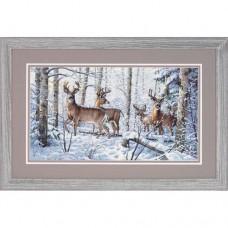 """Набор для вышивания крестом """"Зима в лесу//Woodland Winter"""" DIMENSIONS 35130"""