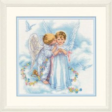"Набор для вышивания крестом ""Поцелуй ангела//Angel Kisses"" DIMENSIONS 35134"