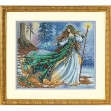 """Набор для вышивания крестом """"Лесная волшебница//Woodland Enchantress"""" DIMENSIONS 35173"""