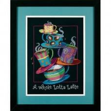 """Набор для вышивания крестом """"Кофейная пирамида//A Whole Lotta Latte"""" DIMENSIONS 35218"""