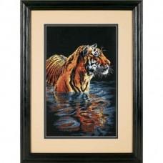 """Набор для вышивания крестом """"Спокойный тигр//Tiger Chilling Out"""" DIMENSIONS 35222"""