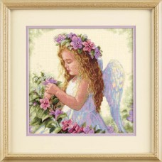 """Набор для вышивания крестом """"Цветочный ангел//Passion Flower Angel"""" DIMENSIONS 35229"""
