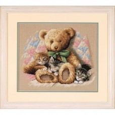 "Набор для вышивания крестом ""Тедди и котята//Teddy & Kittens"" DIMENSIONS 35236"