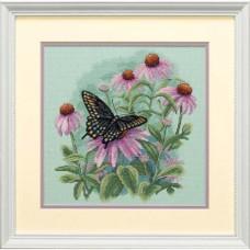 """Набор для вышивания крестом """"Бабочка и ромашки//Butterfly and Daisies"""" DIMENSIONS 35249"""