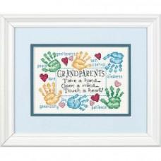 "Набор для вышивания крестом ""Дедушке с бабушкой//Grandparets Touch a Heart"" DIMENSIONS 65011"
