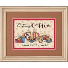"""Набор для вышивания крестом """"Достаточно кофе//Enough Coffee"""" DIMENSIONS 65019"""