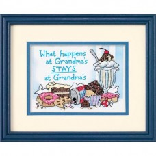 "Набор для вышивания крестом ""Что происходит у бабаушки?//What Happens at Grandma's"" DIMENSIONS 65033"
