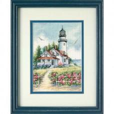 """Набор для вышивания крестом """"Живописный маяк//Scenic Lighthouse"""" DIMENSIONS 65057"""