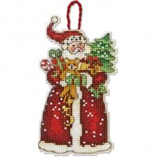 """Набор для вышивания крестом """"Украшение Санта//Santa Ornament"""" DIMENSIONS 70-08895"""