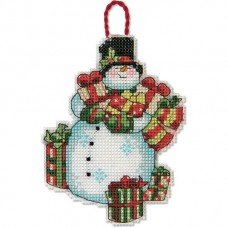 """Набор для вышивания крестом """"Украшение Снеговик//Snowman Ornament"""" DIMENSIONS 70-08896"""