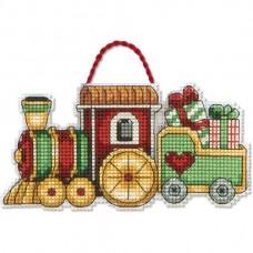 """Набор для вышивания крестом """"Украшение Поезд//Train Ornament"""" DIMENSIONS 70-08897"""
