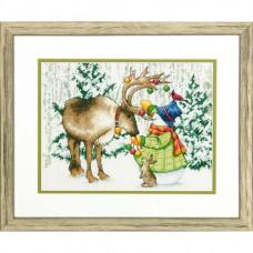 """Набор для вышивания крестом """"Северный олень//Ornamental Reindeer"""" DIMENSIONS 70-08947"""