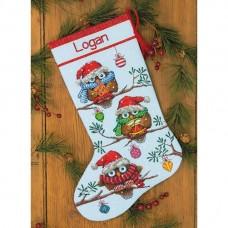 """Набор для вышивания крестом """"Праздник//Holiday Hooties Stocking"""" DIMENSIONS 70-08951"""