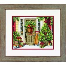 """Набор для вышивания крестом """"Праздничный дом//Home for the Holidays"""" DIMENSIONS 70-08961"""