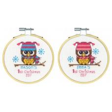 """Набор для вышивания крестом """"Первое Рождество//Baby's First Christmas"""" DIMENSIONS 70-08965"""