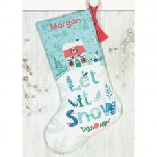 """Набор для вышивания крестом """"Праздничный дом//Holiday Home Stocking"""" DIMENSIONS 70-08975"""
