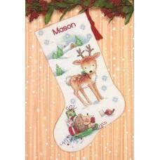 """Набор для вышивания крестом """"Reindeer and Hedgehog//Северній олень и ежик"""" DIMENSIONS 70-08978"""