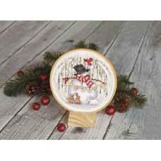 """Набор для вышивания крестом """"Радостный снежный шар//Joyful Snowglobe"""" DIMENSIONS 70-08979"""