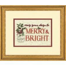 """Набор для вышивания крестом """"Весело и ярко""""//Merry and Bright"""" DIMENSIONS 70-08982"""