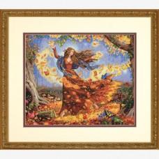 "Набор для вышивания крестом ""Фея осени//Fall Fairy"" DIMENSIONS 70-35262"