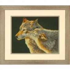 "Набор для вышивания крестом ""Поцелуй//Wolf Kiss"" DIMENSIONS 70-35283"
