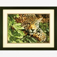 """Набор для вышивания крестом """"Отдыхающий леопард//Leopard in Reposel"""" DIMENSIONS 70-35300"""