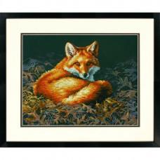 """Набор для вышивания крестом """"Лиса освещенная солнцем//Sunlit Fox"""" DIMENSIONS 70-35318"""