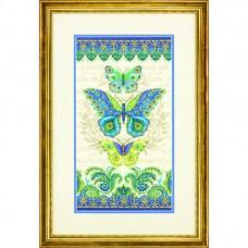 "Набор для вышивания крестом ""Бабочки павлин//Peacock Butterflies"" DIMENSIONS 70-35323"