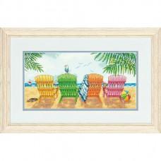 """Набор для вышивания крестом """"Пляжный кресла//Beach Chairs"""" DIMENSIONS 70-35325"""