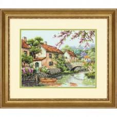 """Набор для вышивания крестом """"Канал//Village Canal"""" DIMENSIONS 70-35330"""