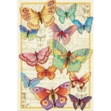 """Набор для вышивания крестом """"Красота бабочек//Butterfly Beauty"""" DIMENSIONS 70-35338"""