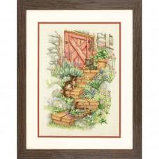 """Набор для вышивания крестом """"Садовые ступеньки//Garden Steps"""" DIMENSIONS 70-35362"""