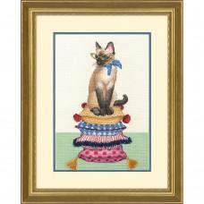 """Набор для вышивания крестом """"Леди-кошка//Cat Lady"""" DIMENSIONS 70-35367"""